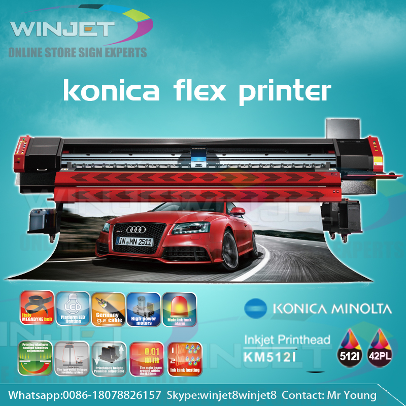 High quality made in china Outdoor Banner Head Minolta Digital Prices Flex Printing Machine Solvent Printer Konica