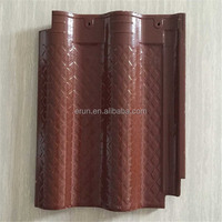 Yixing cheap price 415*315mm orange color ceramic glazed roof tile