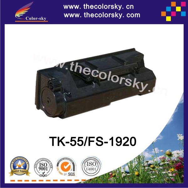 (CS-TK55) BK print top premium toner cartridge for Kyocera TK 55 57 FS 1920 1920N 1920DN (15k pages)