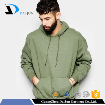 Daijun oem mens causual style oversized light green 100% fleece polyester hoodies