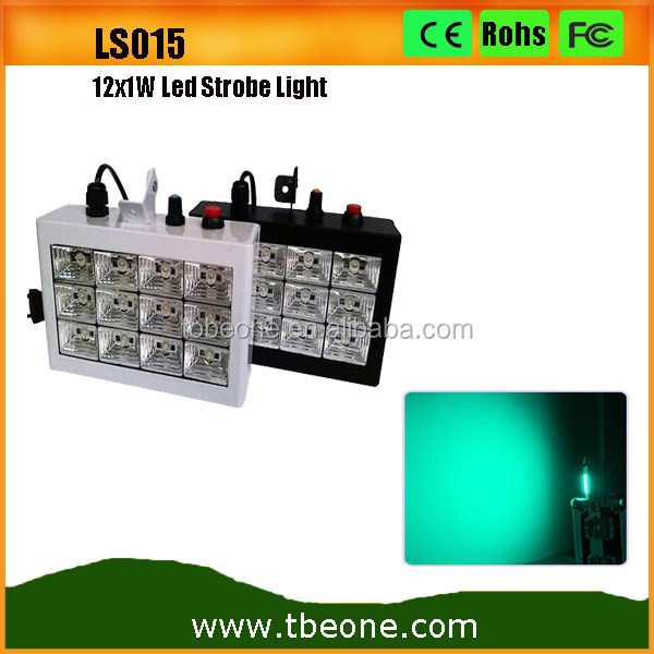 Newest 12x1w RGB Sound Activated led strobe light Cheap Led Disco Light