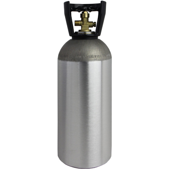 Home Brew 2L Refillable Aluminum CO2 Tank Empty Air Homebrewing Gas <strong>Cylinder</strong> CE Approved