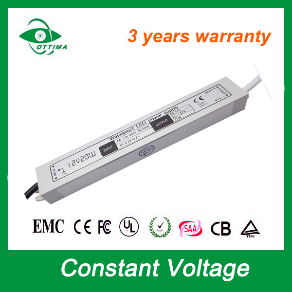 3 years warranty constant voltage waterproof neon light driver 24V 20w led driver power supply