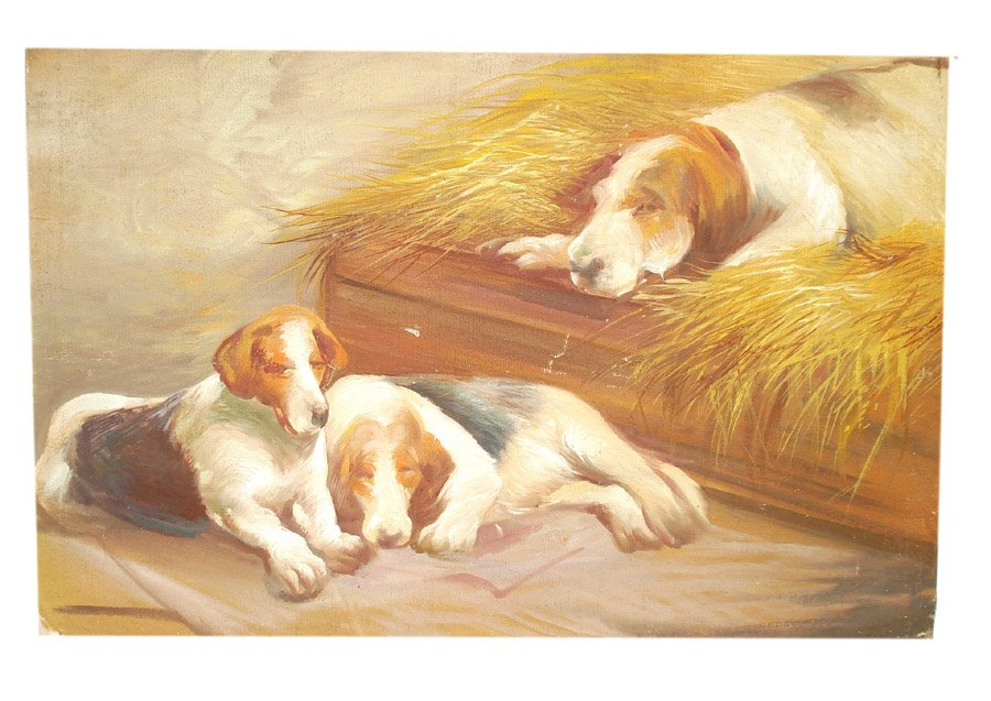Oil Painting Of Dogs