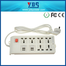 EU/UK/US Germany electrical power strip with 4 port usb extension socket