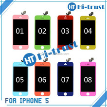 Hot! 100% Testing Pass, Accept Paypal, Escrow! colourful Pink recycle broken lcd screen for iphone 5g