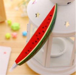 Fortunately Watermelon Shaped Ballpoint Pen Magnet (Red)