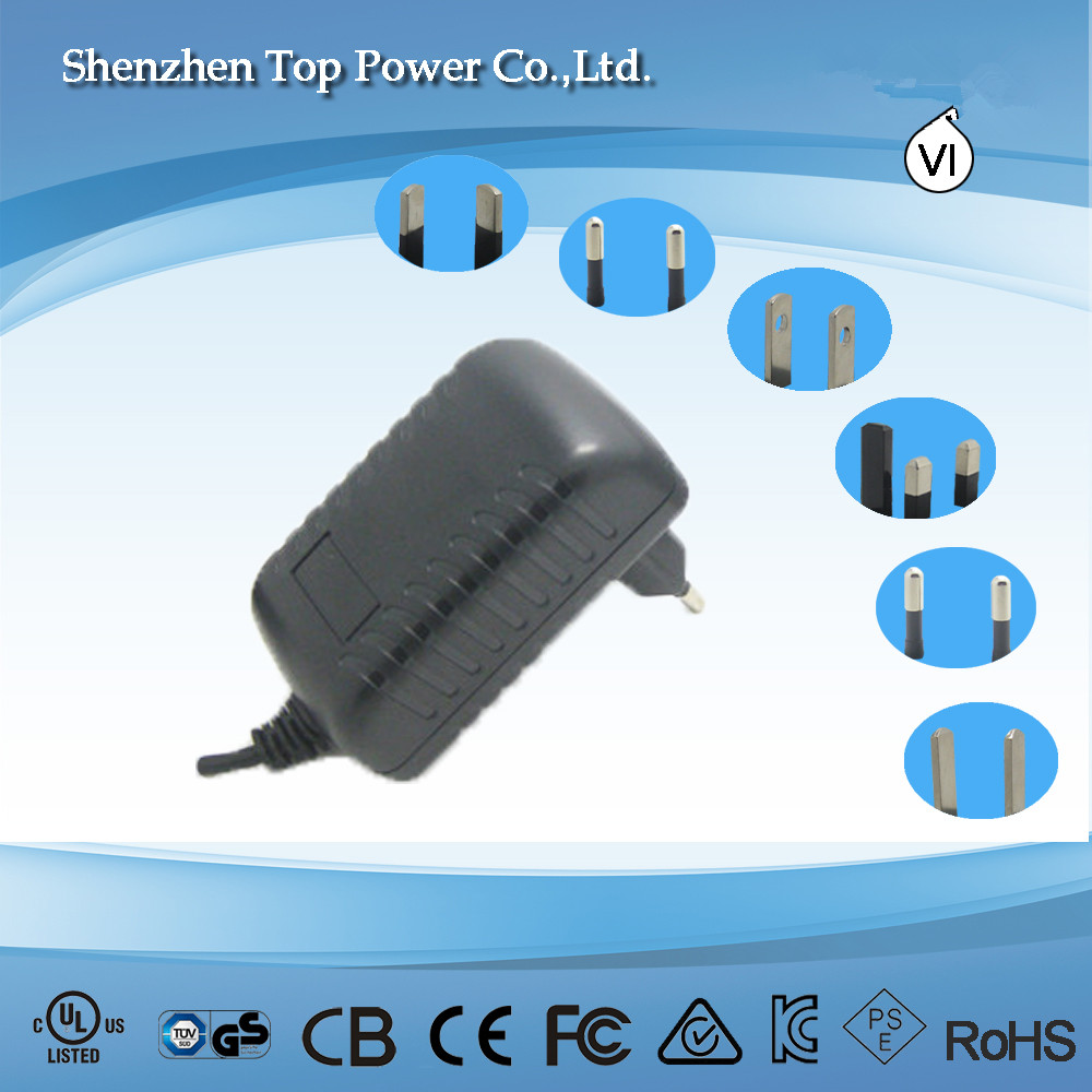 Hot Sell Wall Mounted LED Driver 12V 2A 24W AC DC Adapter with CE Certified SAD-25-12