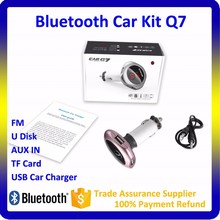 2017 Wireless In-Car Bluetooth FM Transmitter with 5V/2.5A Car Kit Handsfree USB Charger