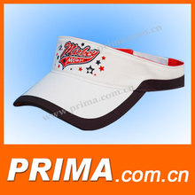 high quality cotton sun visor with embroidery
