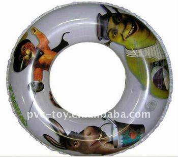 plastic pvc inflatable swimming ring for kids