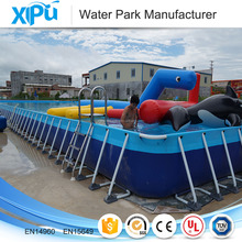 2017 giant rectangular Metal Frame Swimming Pool for event