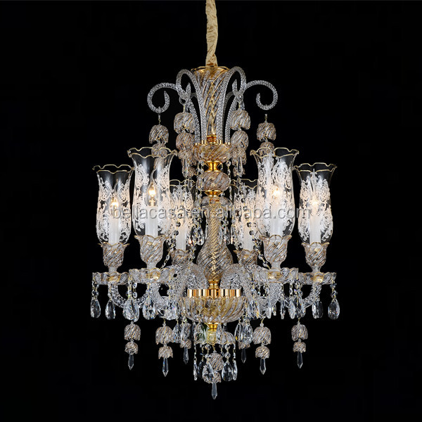 French Style Luxury Crystal Candle Chandelier Romantic Hand Make Living Room Chandelier