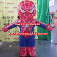 Inflatable advertising spiderman/inflatable moving spiderman cartoon/inflatable costume cartoong