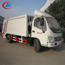 FOTON 4x2 120hp 5ton car trash waste bin compactor garbage truck transport vehicle