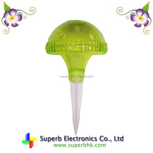 Green Plastic Mushroom Shaped Solar Lawn Light For Yard Decoration