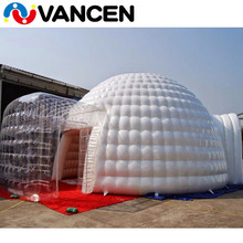 SGS certified 0.55mm PVC trapaulin outdoor waterproof double layer 13 m diameter inflatable dome tents for events prices