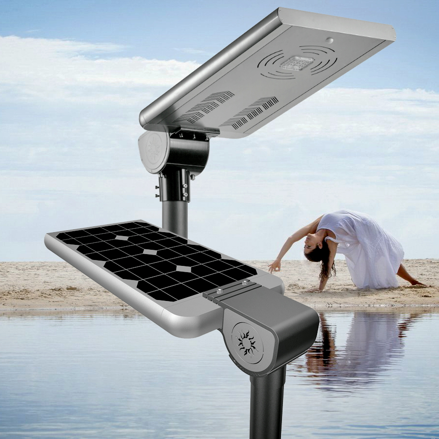 30W patented design all in one solar LED garden light