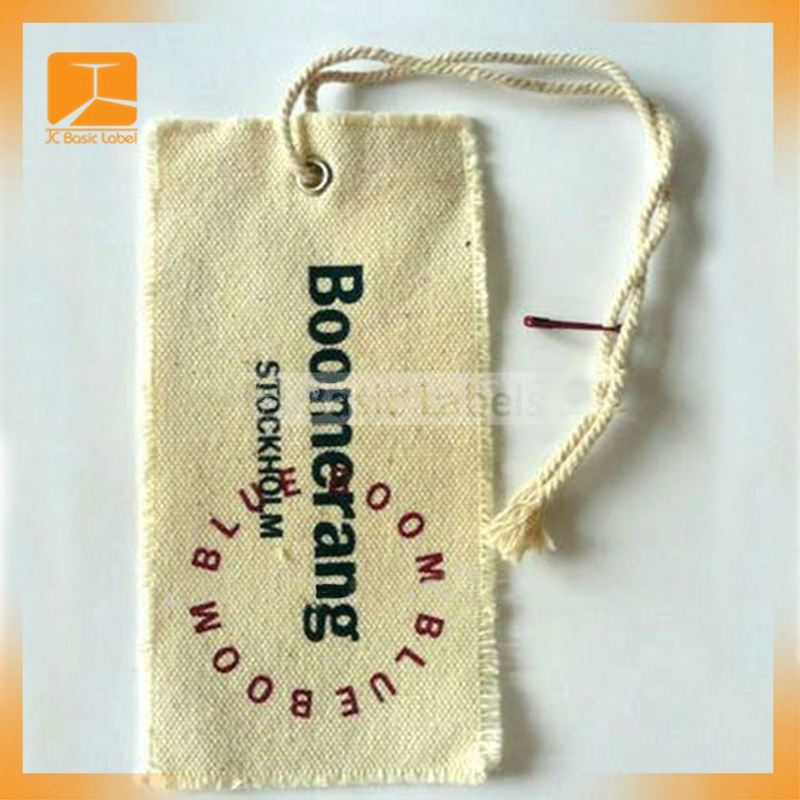 Fashion Paper Plastic Hang Tags with Different Kinds of String