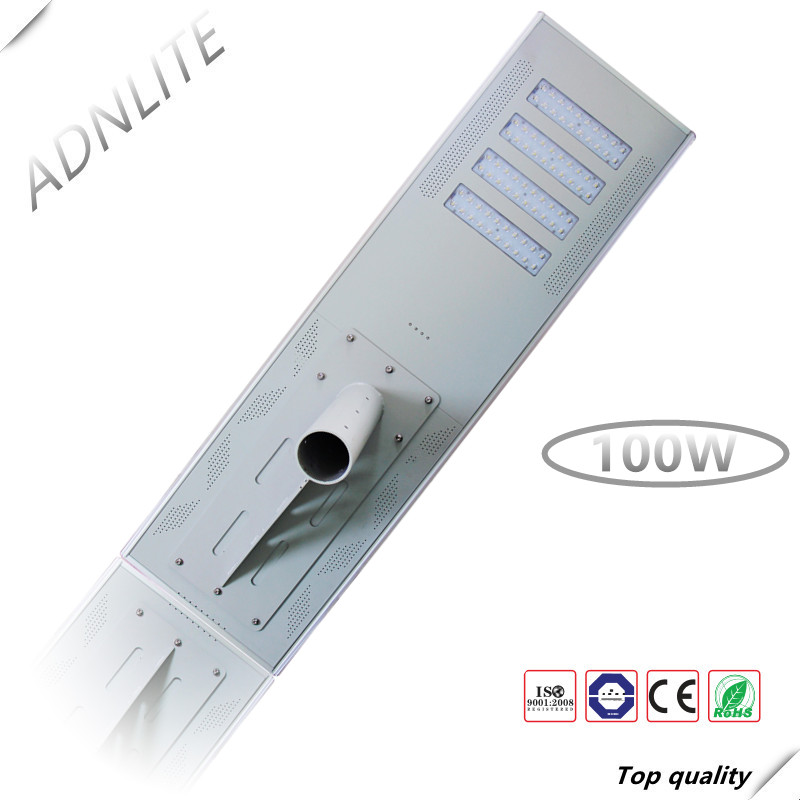 150lm/w All in one solar power 100w led street light ip65 with ce rohs