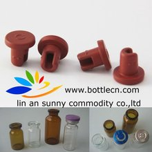 13mm red rubber bottle stopper for antibiotic infusion pack