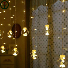 2018 New decoration 120L Fairy Light Christmas 12 Wish Ball Curtain String Light