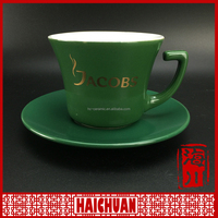 HCC green jacobs cup and saucer