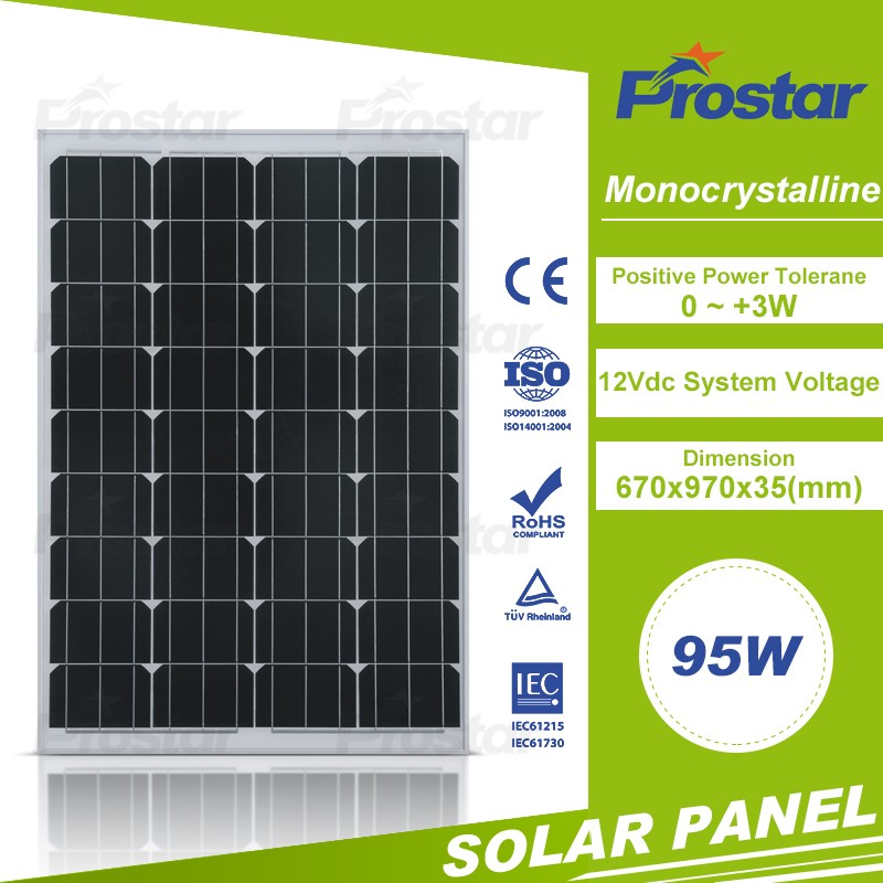 Home Power Kit Solar Power 95W mono solar module 95 Watt Price