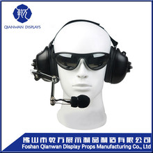 2016 new product white glossy headphone fiberglass male mannequin head