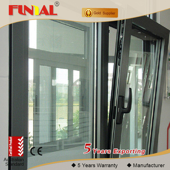 Thermal break Aluminium framed Tilt and Turn Windows, heat insulation french/tilt&turn window