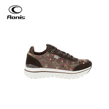 Custom brown color durable women action sports running shoes
