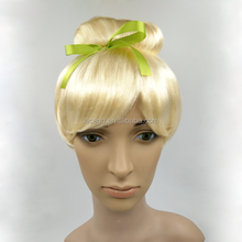 Cheap Fashion Synthetic Hair Wig golden Colored Party Wig For Wholesale
