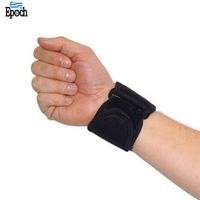 Custom breathable neoprene design black color gym wrist straps with hook and loop closing,2018 wrist compression support strap