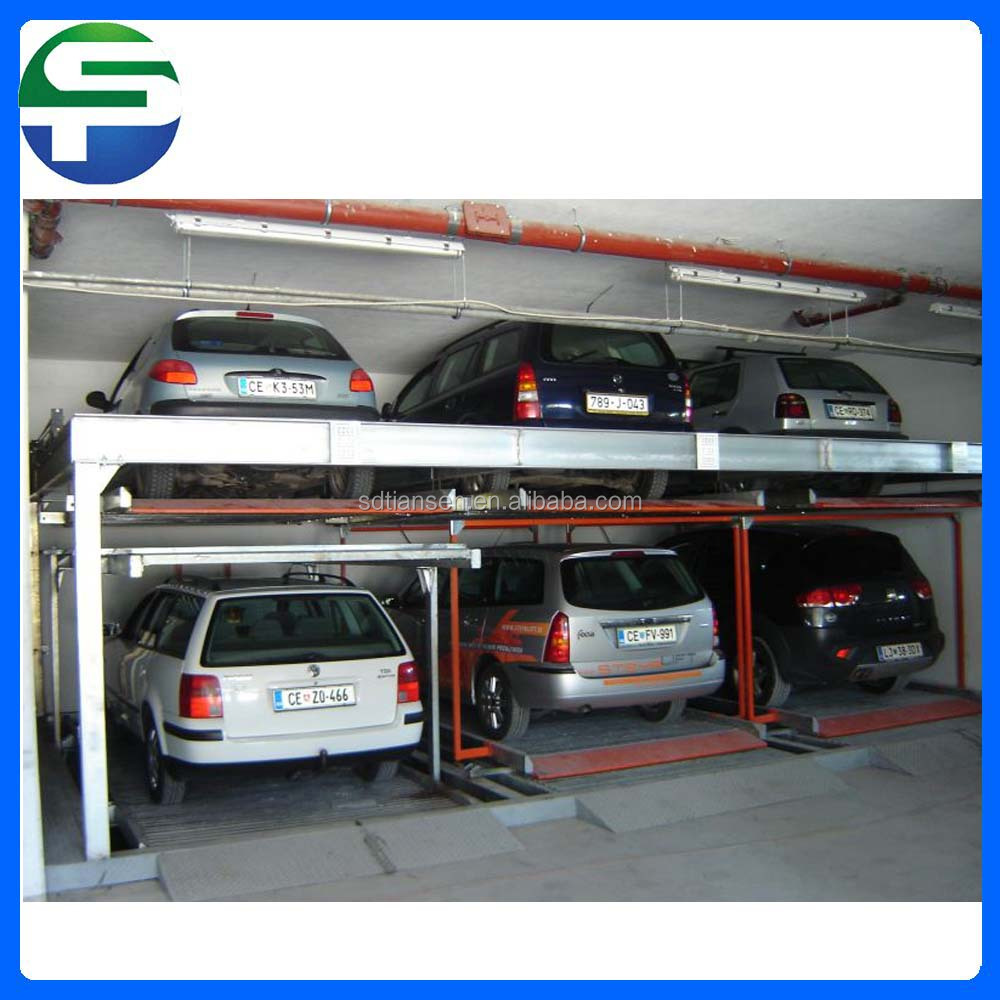Lift and sliding psh auto stack car smart parking system with low ceiling