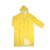 Long knee length European style PVC raincoat/worker raincoats