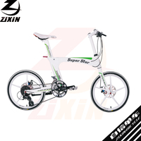 smooth welding technology aluminium alloy frame 16 speeds parts cycle colorful tyre bicycle