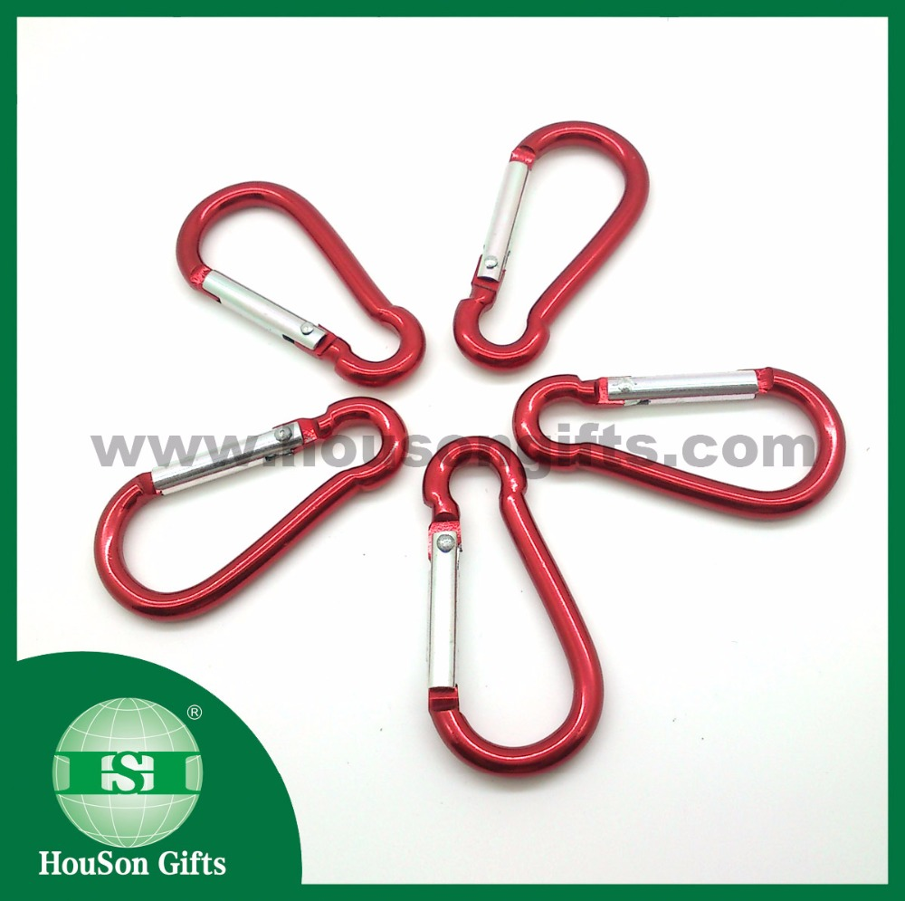 HSC100 low minimum quantity aluminum karabiner hook promotional