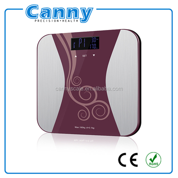 safe glass electronic health monitor bathroon weighing scale body fat scale BMI scale