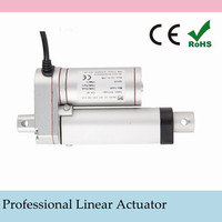 12V or 24V DC 150mm/ 6 inch Stroke, High Speed 5-40mm/s Mini Linear Actuator With 900N-100N Lift Force