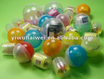 Different sizes Capsules toys with Small toys inside for vending machines