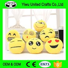 High Quality PP Cotton Round Plush Cushions 32CM Smiley Emoji pillow For Sofa/Car Decor