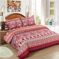 Bohemian Style 3D Printed 100% Polyester Bedding Set / Bed Sheet Set