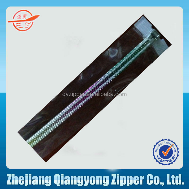 long chain nylon pvc zipper for beauty