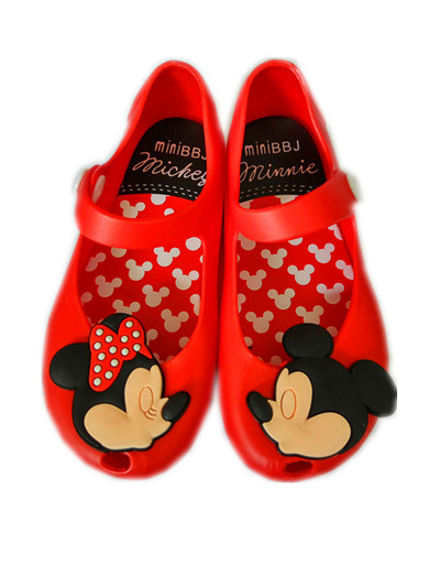 Minnie Mouse Shoes Sandals Jelly Sandal For Baby Girls Boys Children Summer Cute Cartoon Beach Shoes Infantil Sandalia 1-3Y