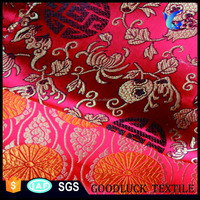 Chinese supplier metallic brocade for wedding decorations