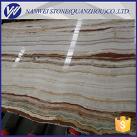 luxury design marble Big Slab Bookmatched stright vein onyx Marble Square Natural Marble Medallion For Floor