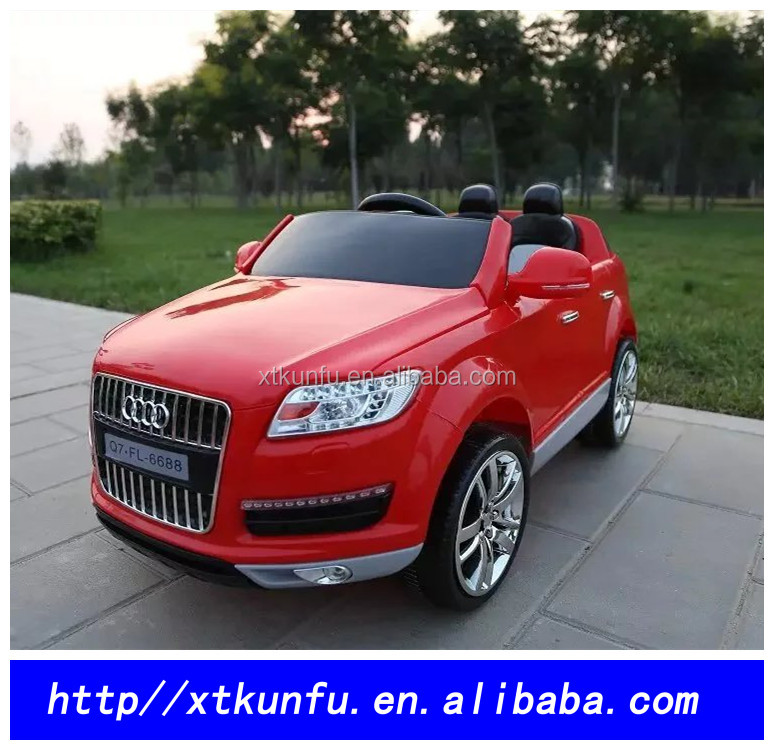 2016 new licensed AUDI Q7 children electronic toy car and PP plastic RC car /kids electric car
