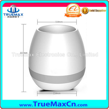 New Arrival Green Plant Smart Touch Sensitive Flowerpot Plastic New Music Flower Pot With LED Light