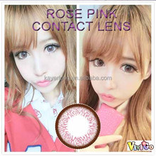 Wholesale price korea sweet color contact lens magic eye contact lens very cheap ROSE PINK