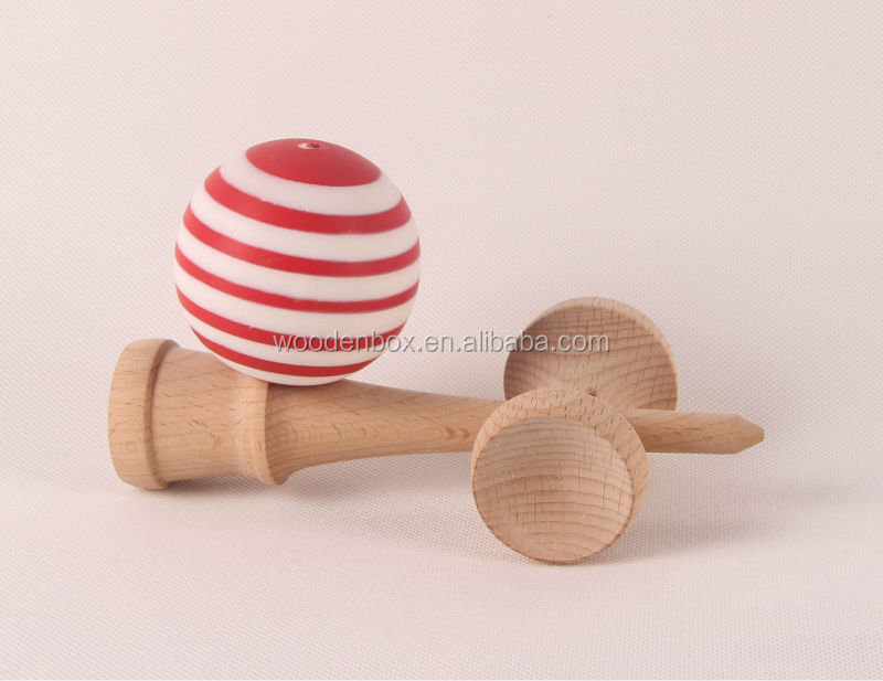 stripe kendama with matte finish tama for wholesale